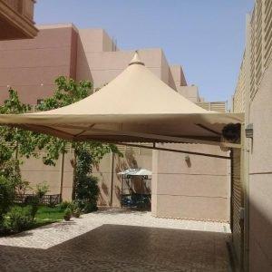 طريقة تركيب المظلات