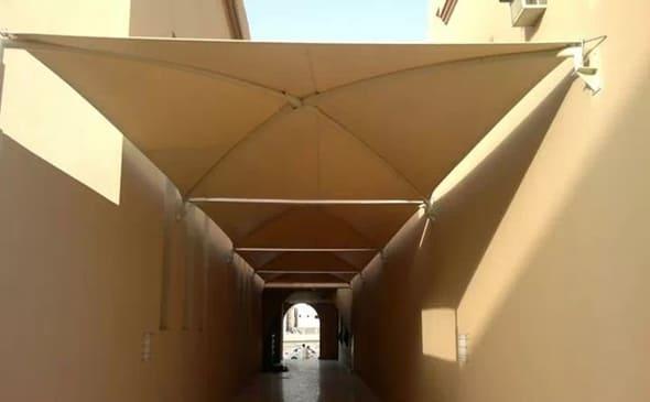 مظلات ممرات الجبيل